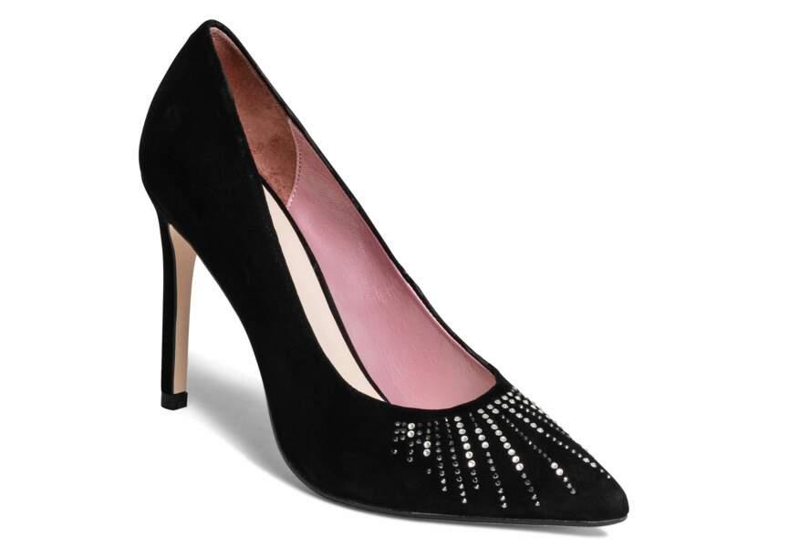 Chaussures de soirée : les escarpins à cristaux Swarovski