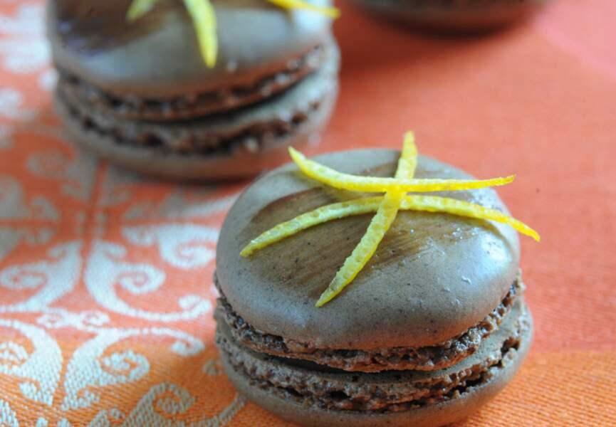 Macarons chocolat orange