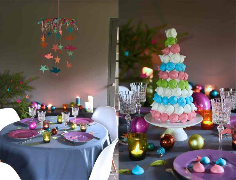 Une décoration de Noël sous la signe de la couleur