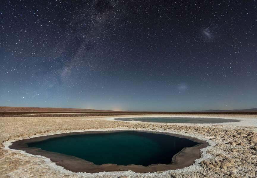 Lagunas Baltinache, désert d'Atacama, Chili