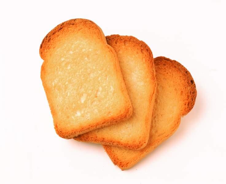 Les biscottes sont plus « régime » que le pain