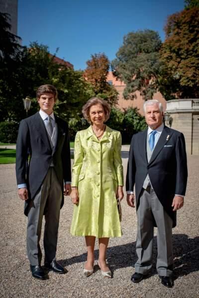 Fernando Fitz-James Stuart avec son père Carlos Fitz-James Stuart et la reine Sofia d'Espagne