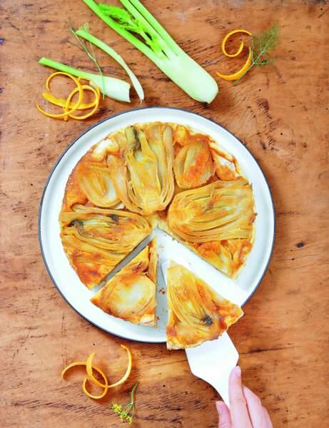 Tatin de fenouil à l'orange