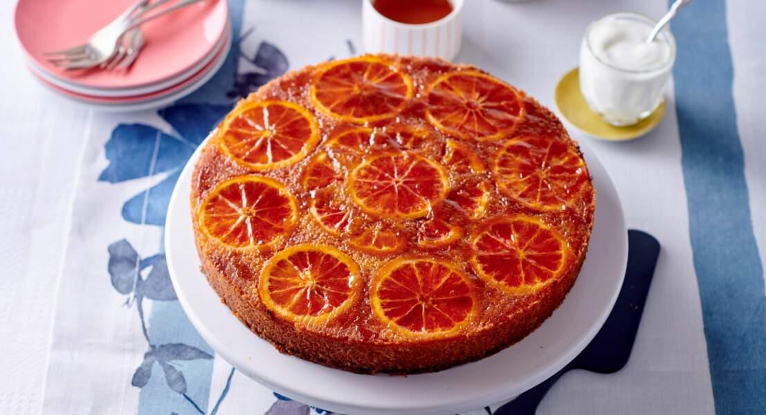 Gâteau renversé a l'orange sanguine