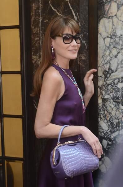 Carla Bruni prend la pose en 2013 pour une campagne Bulgari