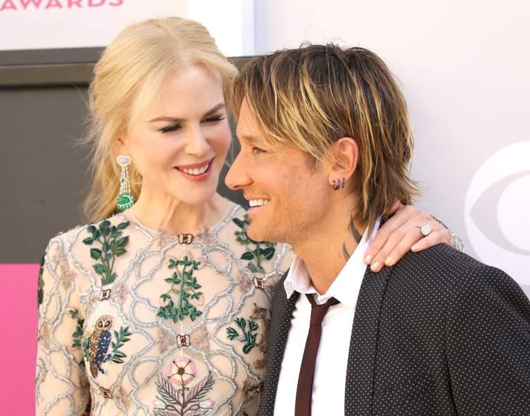 Nicole Kidman et Keith Urban à la 52ème cérémonie des Country Music Awards à Las Vegas en 2017.