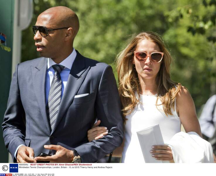 Thierry Henry et sa femme Andrea Rajacic 2015