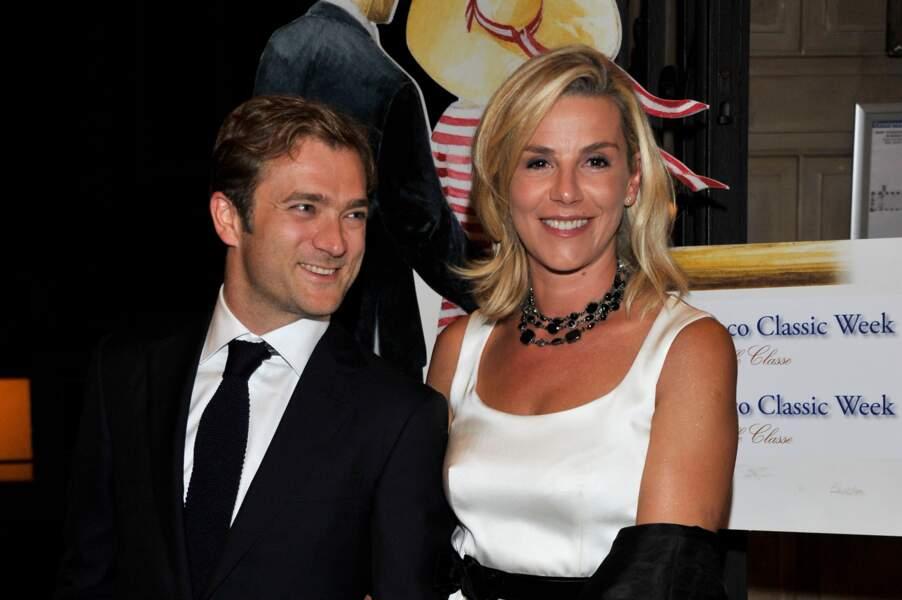 """Laurence Ferrari et Renaud Capuçon lors de la soirée """"Nuit du Yachting"""" à Monaco (2013)"""