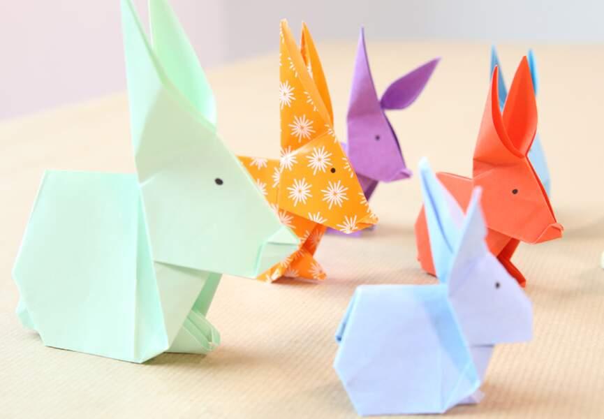 Des petits lapins en origami