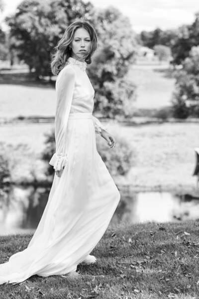Mariage en hiver : Robe de mariée Paulin par Delphine Manivet