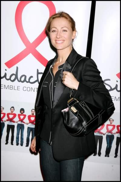 Anne-Sophie Lapix à la soirée de lancement du Sidaction au Palais de Tokyo en 2008.