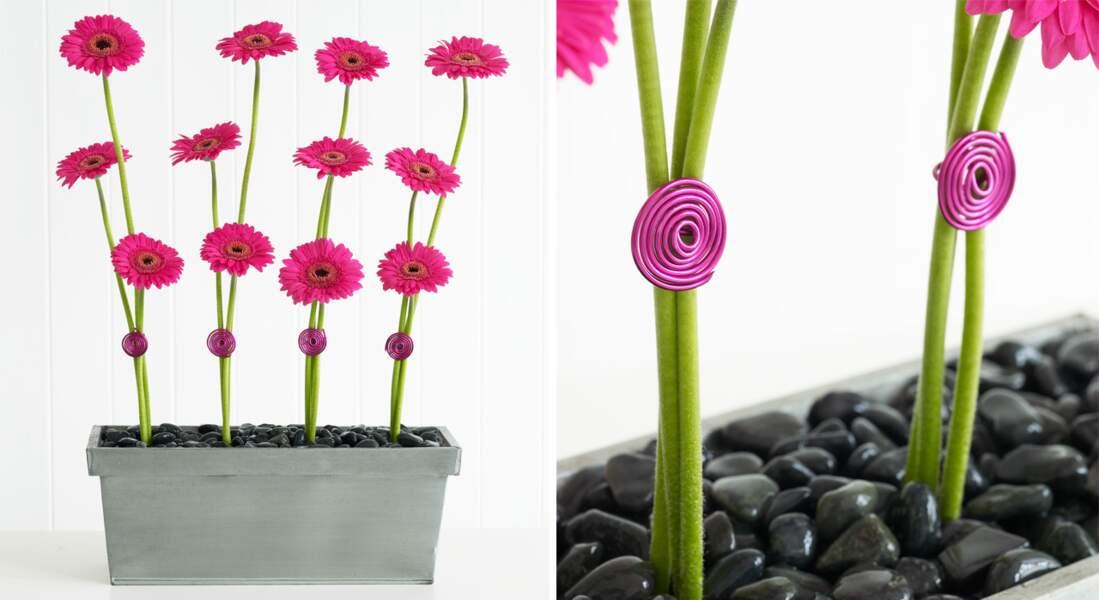 Art floral : lignes de Gerbéras