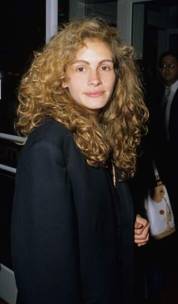 "Julia Roberts en 1989 à la première du film ""Miss Firecracker"" à New York"