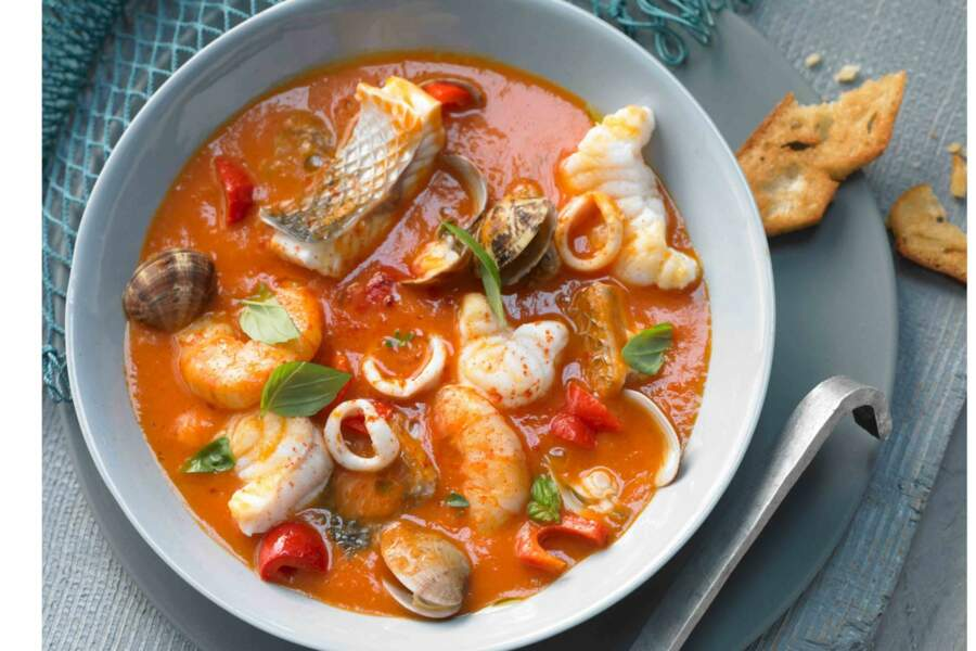 Cacciucco Toscan de poisson et fruits de mer