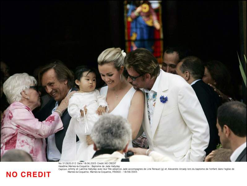 Johnny, Laeticia Hallyday et leur fille Jade