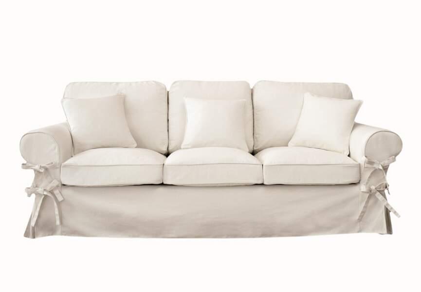 Canapé-lit en lin