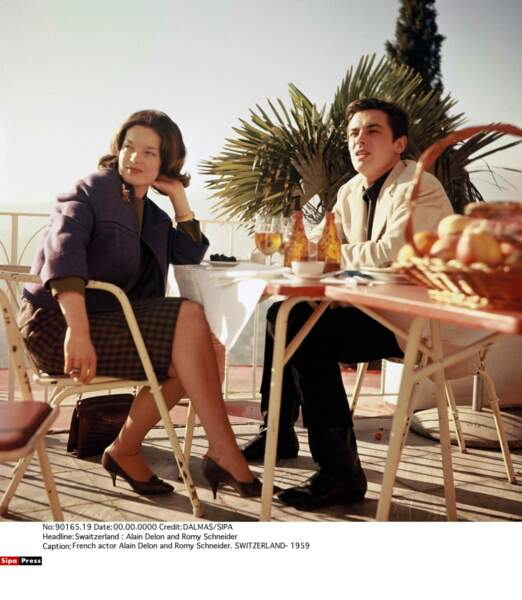 Romy Schneider et Alain Delon