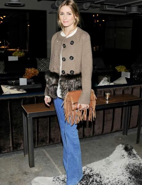Olivia Palermo et son jean flare