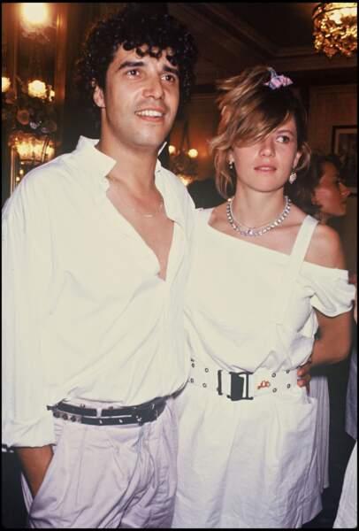 Julien Clerc et Virginie Couperie lors d'une soirée en 1985.