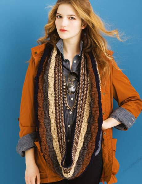 Tricot : le snood oversize