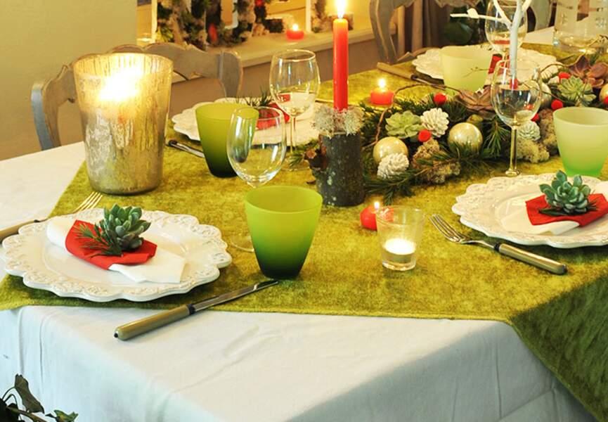 Une déco de table champêtre