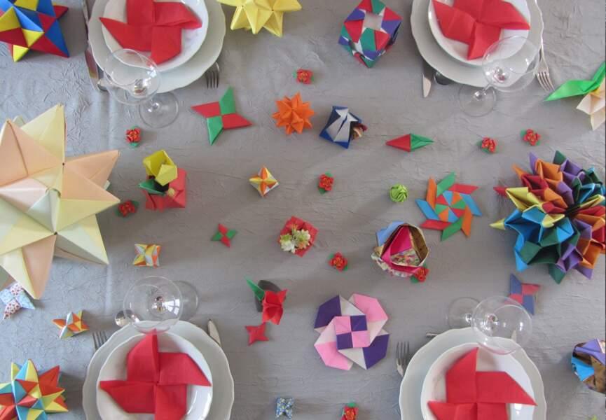 Le Prix des internautes : Décor en origami de Noël