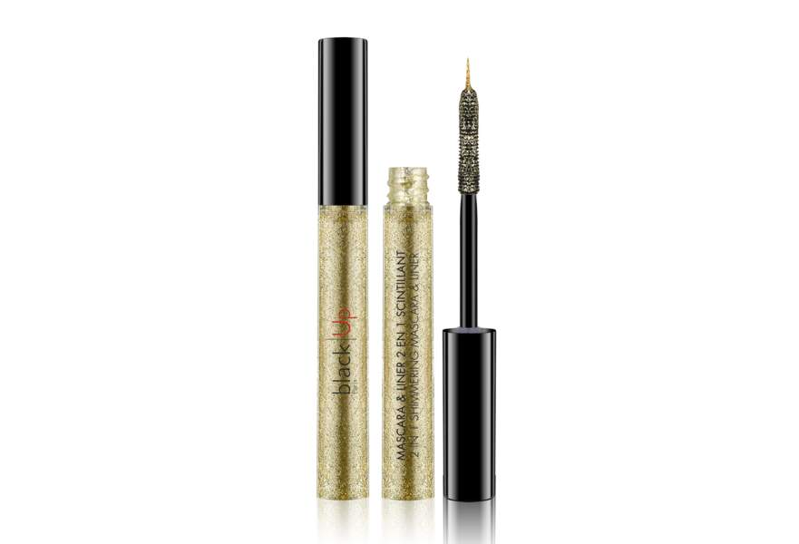 Le mascara et liner scintillant Black Up