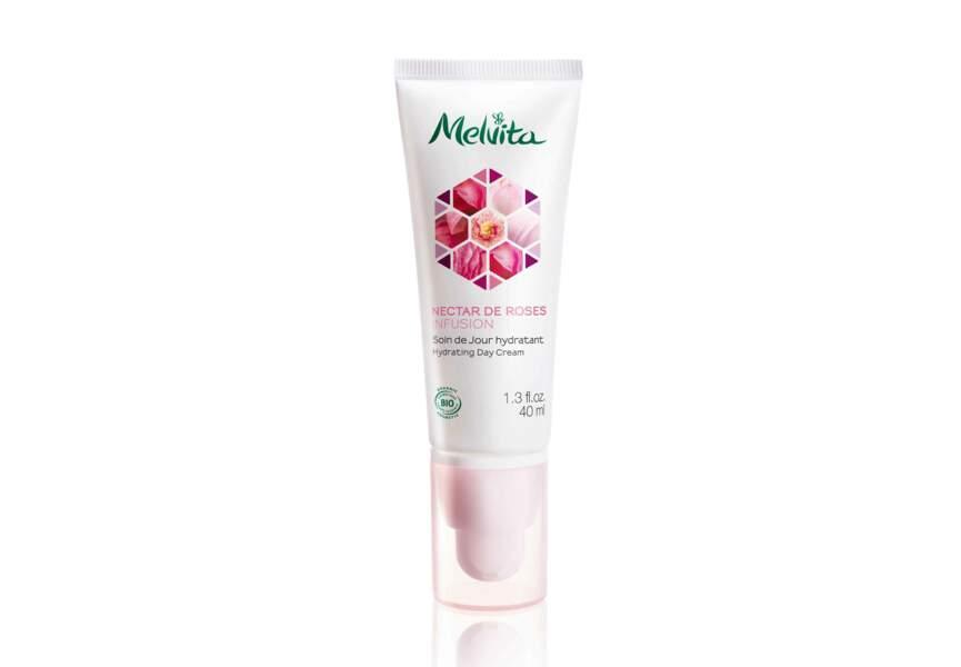 Le Soin de jour hydratant Nectar de Roses Infusion Melvita