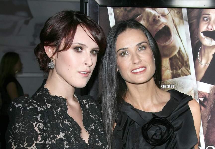 Demi Moore et sa fille Rumer Glenn Willis