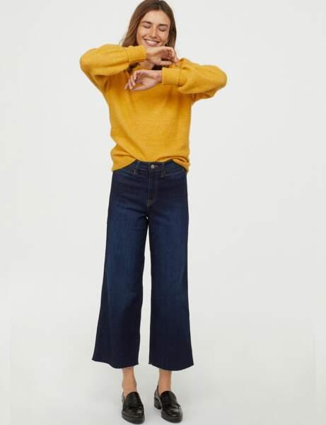 Tendance jean : jupe-culotte
