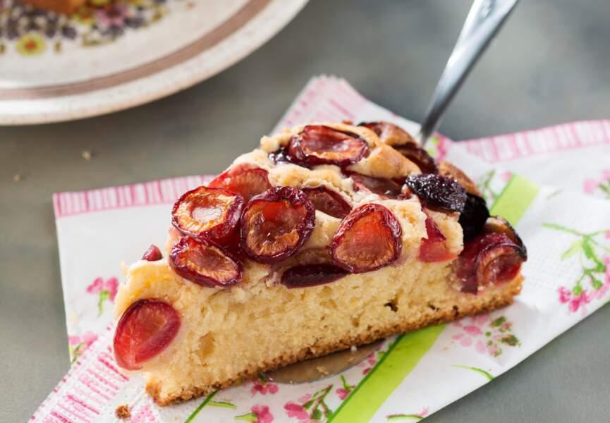 Gâteau au yaourt et aux cerises