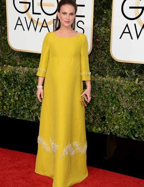 Natalie Portman : robe jaune