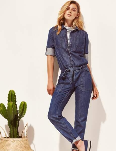 Nouveauté printemps : la combi en jean