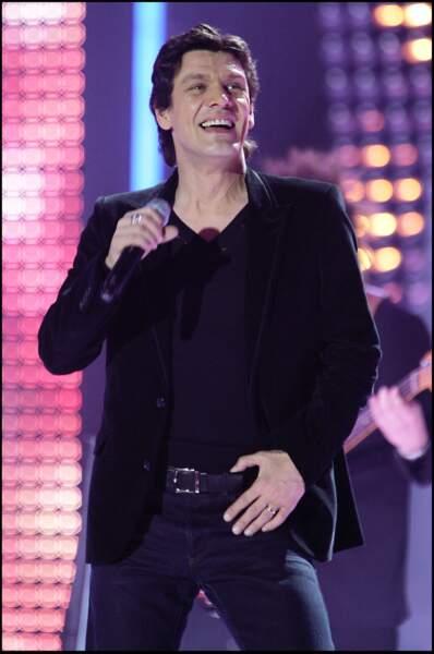 Marc Lavoine lors de la 21ème édition des Victoire de la musique au Zénith de Paris en mars 2006.