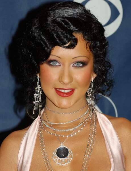 Le brun cranté de Christina Aguilera