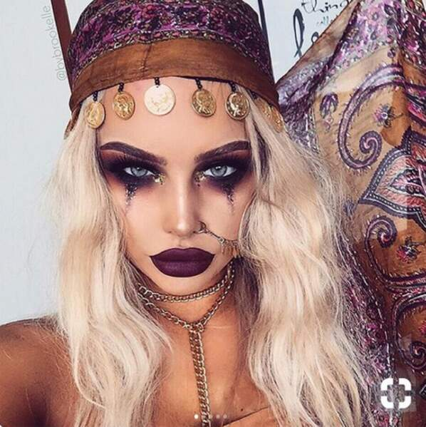 Maquillage d'Halloween glamour