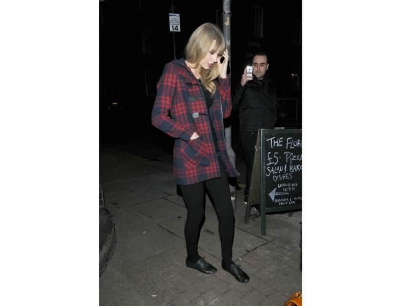 Le manteau tartan par Taylor Swift