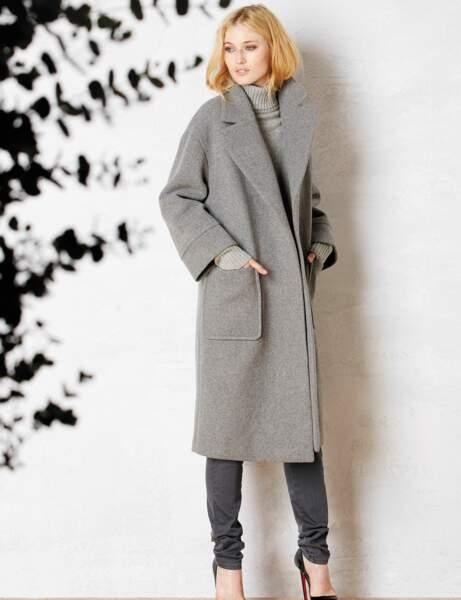 Manteau : gris confort