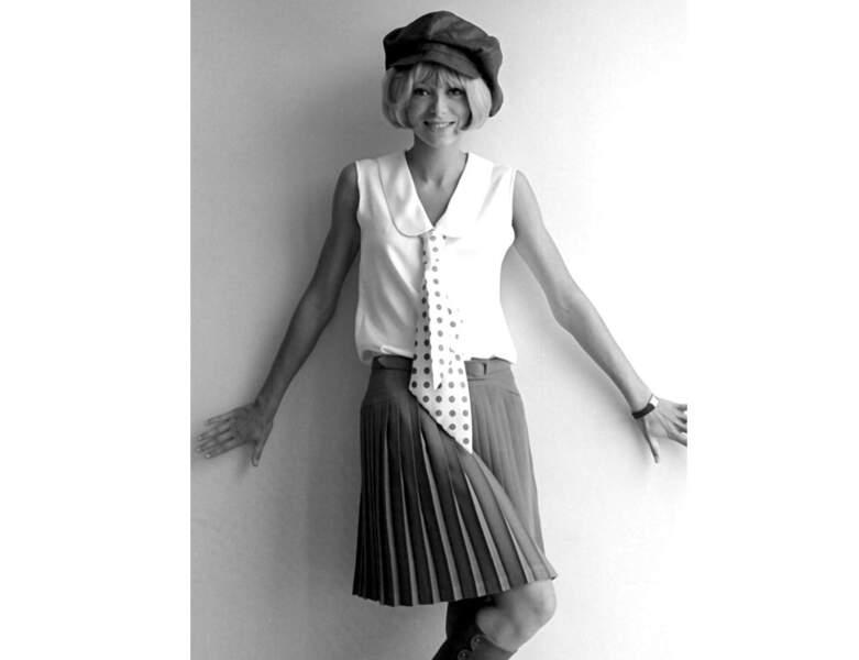 """1968 : elle est photographiée sur le tournage de """"Gonflés à bloc"""" à Rome"""