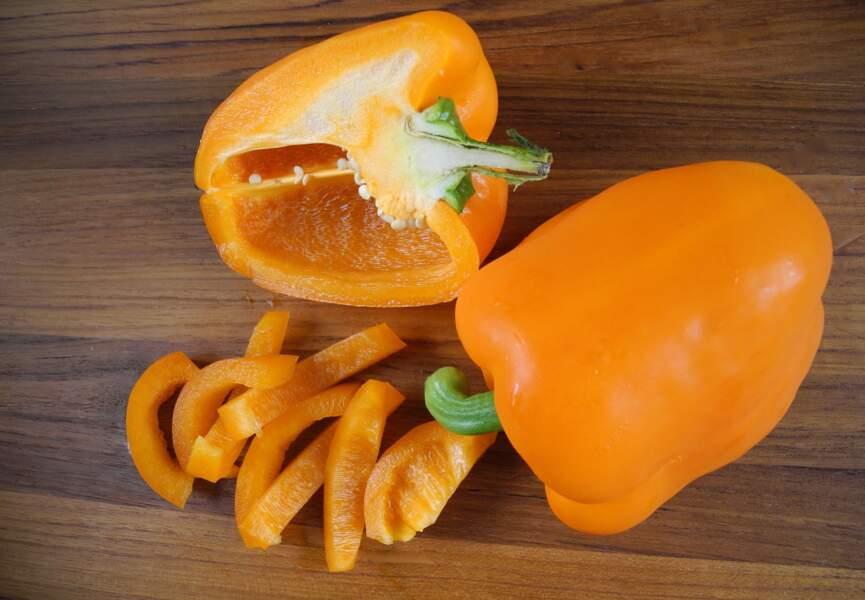 Aliment orange : le poivron, pour un œil de lynx