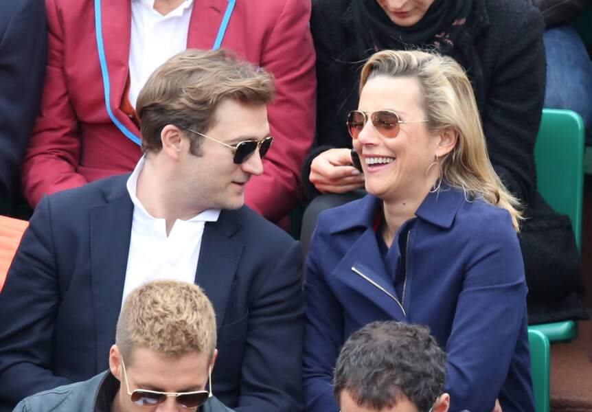 Laurence Ferrari et son mari Renaud Capucon au 8ème sacre de Rafael Nadal à Roland Garros (2013)