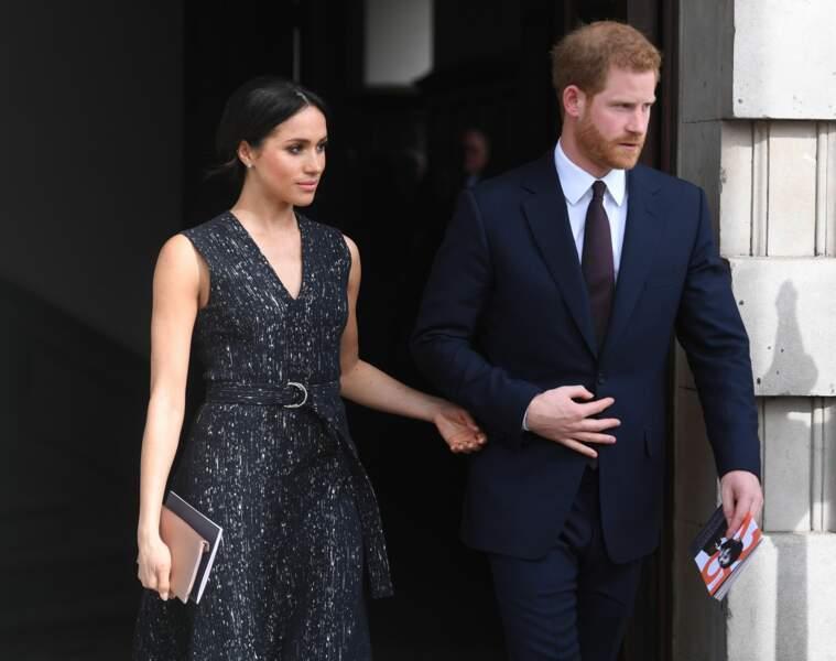 Le prince Harry et Meghan Markle le 23 avril 2018