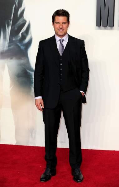 Le comédien Tom Cruise mesure 1m70.
