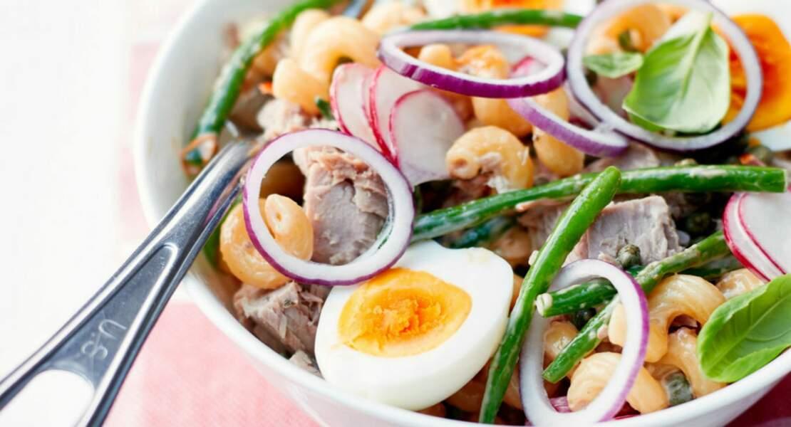 Salade coquillettes au thon