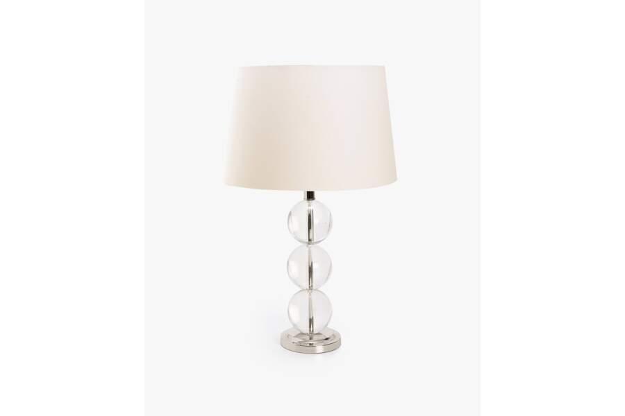 Lampe 3 spères verre