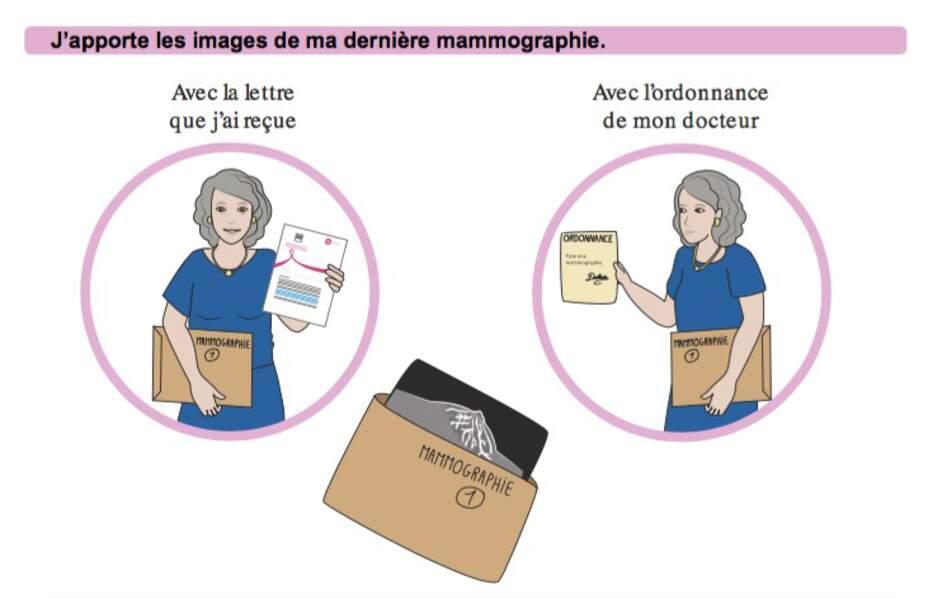 Que faut-il apporter le jour de la mammographie ?