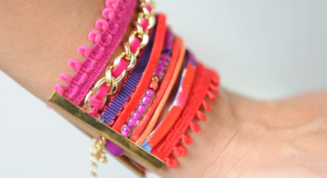 Un bracelet en galons