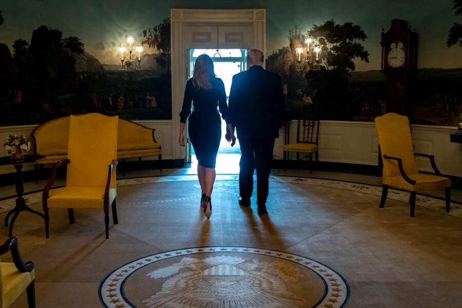 Donald Trump et Melania Trump ont participé à la 18ème commémoration de l'attaque terroriste à la Maison-Blanche.