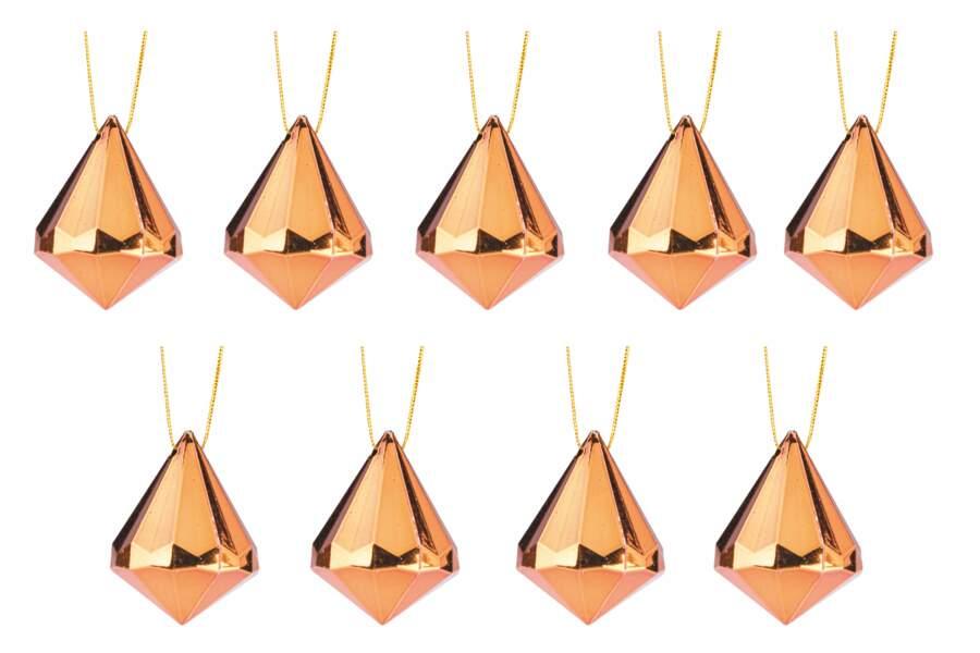 Suspensions diamant cuivre