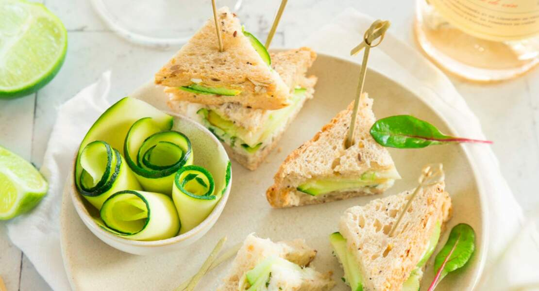 Mini club sandwichs crabe courgette